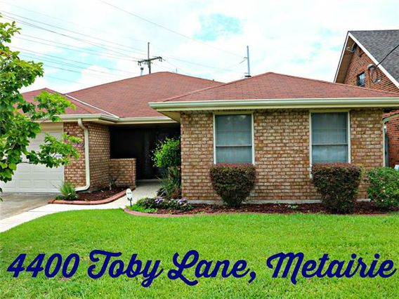 4400 TOBY Lane Metairie, LA 70003