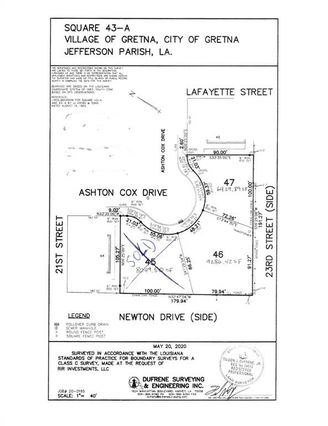 ASHTON COX LOT 46 Drive Gretna, LA 70053